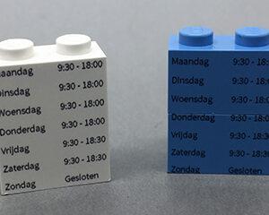 Mijn blokje Lego openingsuren