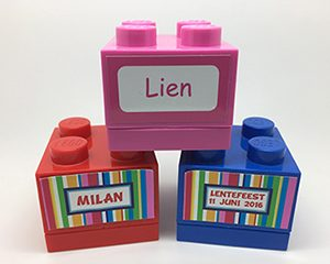 Minibox label streep