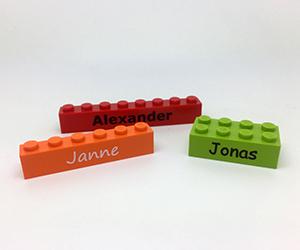 Lego blokje met naam