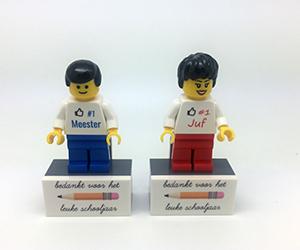 Lego juf meester bedankje