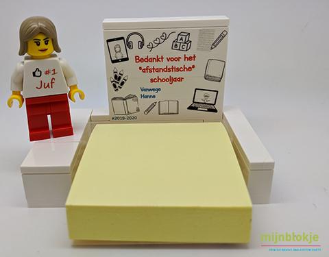 Lego eindeschooljaar bedankje