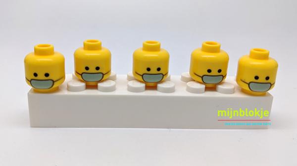 Lego mondmasker hoofdjes