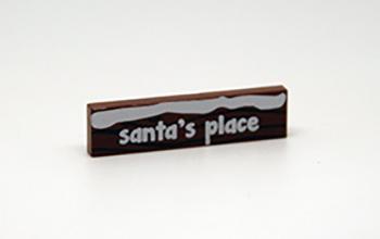 Lego kerstwegwijzer Santa's Place